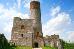 Castelo de Checiny Fotos de Stock Royalty Free