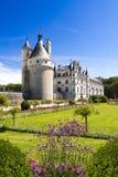 Castelo de Chenonceau no Loire Valley, France fotos de stock royalty free