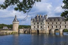 Castelo de Chenonceau no Loire Valley - o França foto de stock