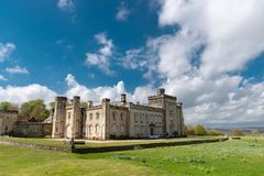 Castelo de Chiddingstone em Kent fotografia de stock