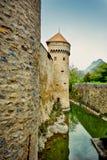 Castelo de Chillion, Suíça Foto de Stock