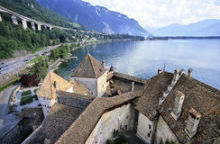 Castelo de Chillon Foto de Stock Royalty Free