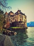 Castelo de Chillon Fotos de Stock Royalty Free