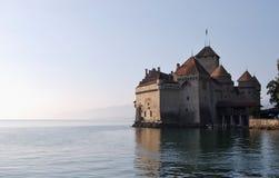 Castelo de Chillon no lago geneva Montreux switzerland imagem de stock royalty free