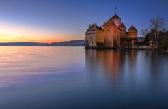 Castelo de Chillon, switzerland Imagem de Stock Royalty Free