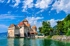 Castelo de Chillon, switzerland Fotografia de Stock Royalty Free