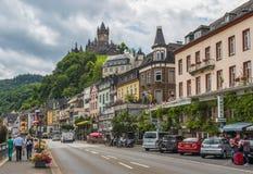 Castelo de Cochem, vale de Moselle germany fotos de stock