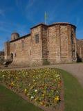 Castelo de Colchester na mola Foto de Stock