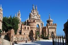 Castelo de Colomares, Benalmadena imagens de stock