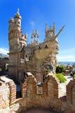 Castelo de Colomares na memória de Christopher Colomb em Benalmadena imagem de stock royalty free