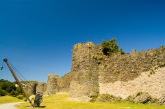 Castelo de Conway, as paredes velhas Imagens de Stock Royalty Free