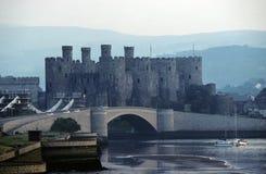 Castelo de Conwy fotos de stock royalty free
