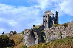 Castelo de Corfe Imagens de Stock Royalty Free