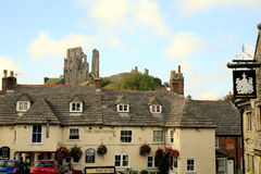 Castelo de Corfe, Dorset Fotografia de Stock Royalty Free