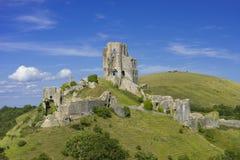Castelo de Corfe em Dorset Fotografia de Stock
