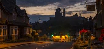 Castelo de Corfe em Dorset Imagem de Stock Royalty Free