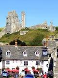 Castelo de Corfe, ilha de Purbeck, Dorset. Imagens de Stock Royalty Free