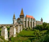 Castelo de Corvin em Hunedoara, Romênia Fotografia de Stock Royalty Free