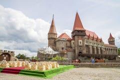 Castelo de Corvin ou castelo de Hunyadi em Hunedoara, Romênia fotografia de stock royalty free