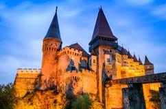Castelo de Corvin, a Transilvânia, Romênia fotografia de stock royalty free