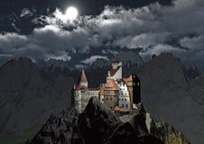Castelo de Dracula ilustração stock