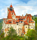 Castelo de Dracula, Romênia fotos de stock royalty free