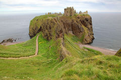 Castelo de Dunnottar, Scotland, Reino Unido foto de stock