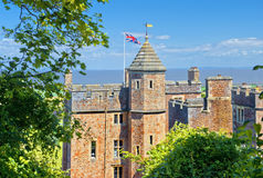 Castelo de Dunster, Somerset, Inglaterra Fotografia de Stock Royalty Free