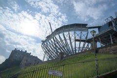 Castelo de Edimburgo que prepara-se para a tatuagem militar Fotos de Stock Royalty Free