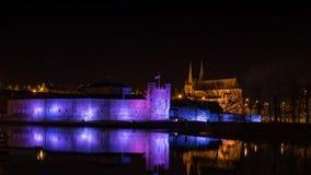 Castelo de Enniskillen na noite Imagens de Stock Royalty Free