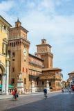Castelo de Estense de Ferrara Emilia-Romagna Italy Imagem de Stock Royalty Free