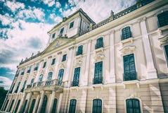Castelo de Esterhazy em Fertod, Hungria, filtro análogo foto de stock royalty free