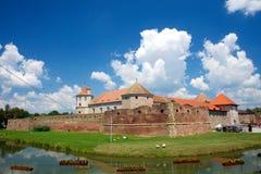 Castelo de Fagaras na citadela da fortaleza de Romênia fotografia de stock royalty free