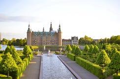 Castelo de Frederiksborg, Hillerod, Dinamarca fotografia de stock royalty free