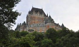Castelo de Frontenac na noite de Cidade de Quebec em Canadá imagem de stock royalty free
