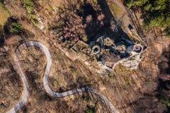 Castelo de Frydstejn do s?culo 14 foto de stock royalty free