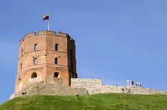 Castelo de Gediminas em Lituânia, Vilnius foto de stock