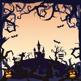 Castelo de Ghost - fundo de Dia das Bruxas Fotografia de Stock Royalty Free
