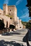 Castelo de Gibralfaro Fotos de Stock Royalty Free