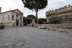Castelo de Giulio II em Ostia Antica Roma Fotos de Stock Royalty Free