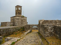 Castelo de Gjirokastër - Albânia Foto de Stock