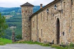 Castelo de Golaso. Varsi. Emilia-Romagna. Itália. Imagens de Stock