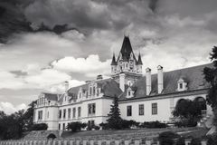 Castelo de Grafenegg no distrito de Krems da Baixa Áustria Fotos de Stock