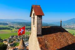 Castelo de Gruyeres Imagem de Stock