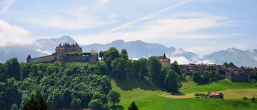 Castelo de Gruyeres, Switzerland imagem de stock