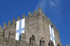 Castelo de Guimaraes em Portugal foto de stock