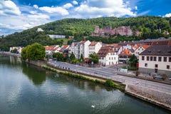 Castelo de Heidelberg (alemão: Heidelberger Schloss) Fotografia de Stock Royalty Free