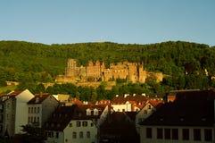 Castelo de Heidelberg no dia Fotos de Stock Royalty Free