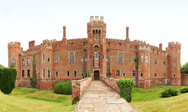 Castelo de Herstmonceux do tijolo no século XV do leste de Inglaterra Sussex Imagem de Stock