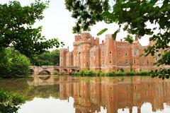 Castelo de Herstmonceux do tijolo no século XV do leste de Inglaterra Sussex Fotos de Stock Royalty Free